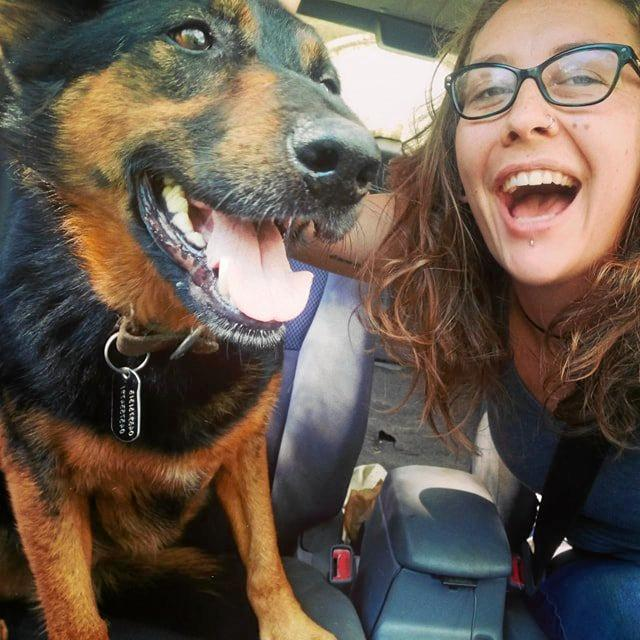 Georgica's Charlotte Shepherd was elated to find her dog Phedre after four weeks.