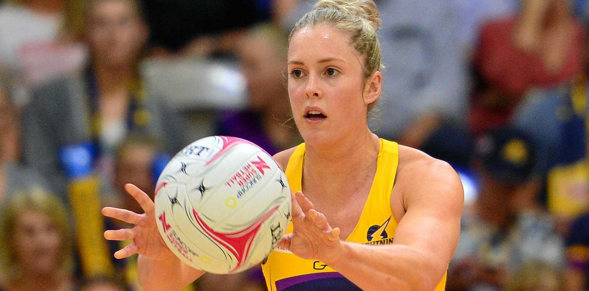 KEEN: The Sunshine Coast Lightning will look to make a big impact right from the start of the 2019 Super Netball season.  Pictured is Laura Scherian, who will play her third season with the outfit next year.