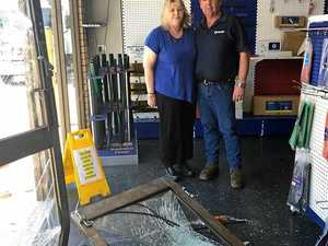Ram raid shatters business