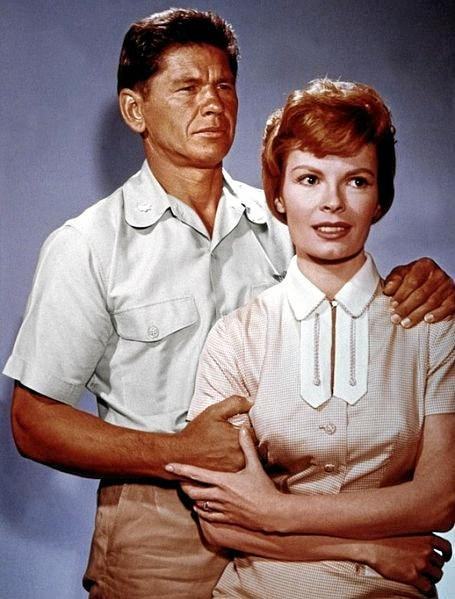 Charles Bronson and Patricia Owens in the film X-15 in 1961.