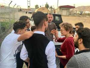 Emotional reunion for volunteer as refugees found safe