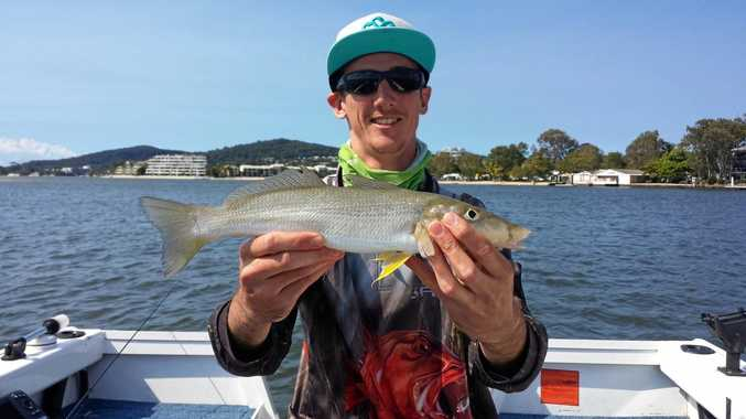 SUN SMART: Stann Anderson wears sun protection, especially when out catching whiting.