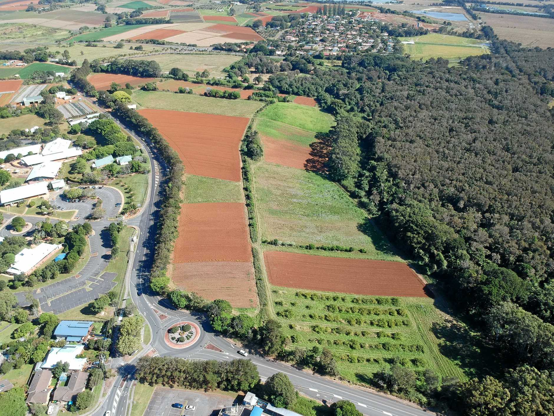 The selected site of the $534 million Tweed Valley Hospital at Cudgen.
