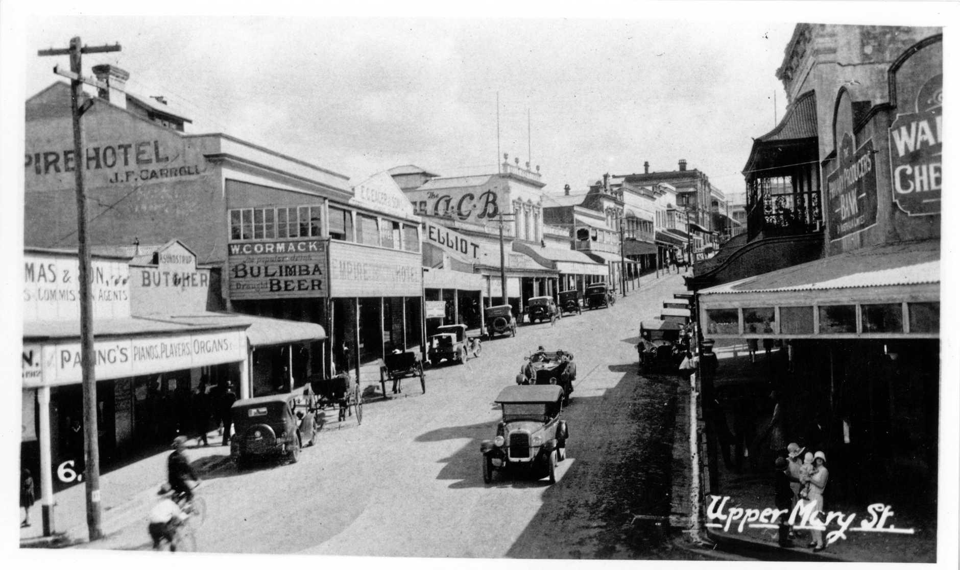 Empire Hotel, Gympie. Upper Mary Street c1920's Photo Courtesy of Gympie Regional Library.