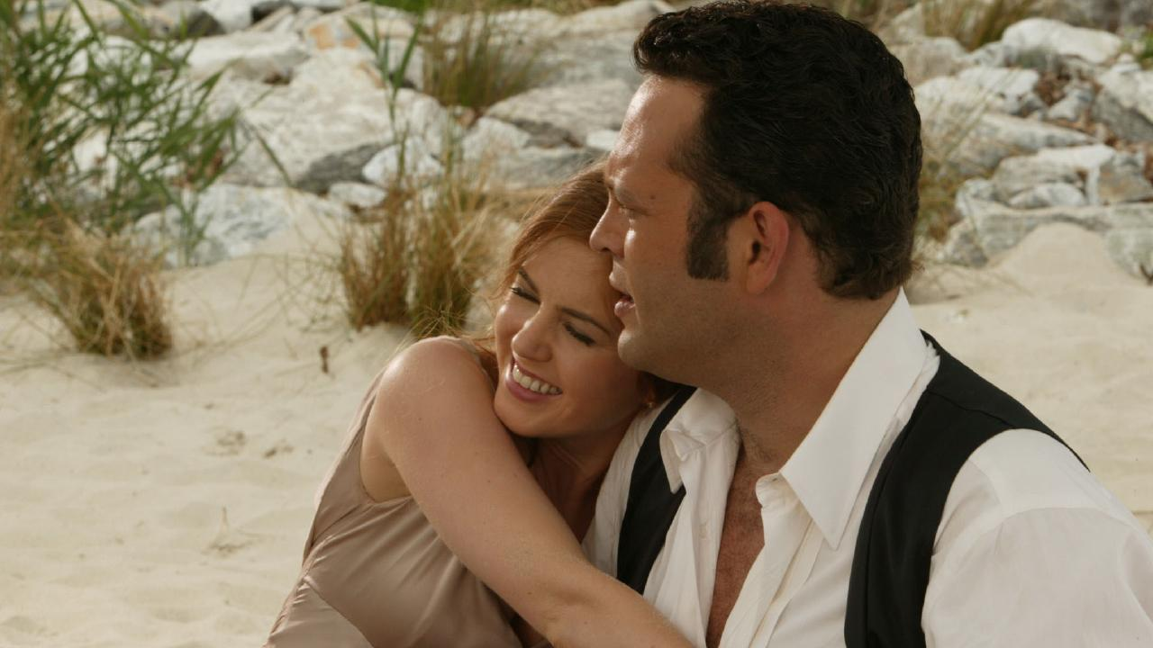 Isla Fisher and Vince Vaughn in Wedding Crashers.