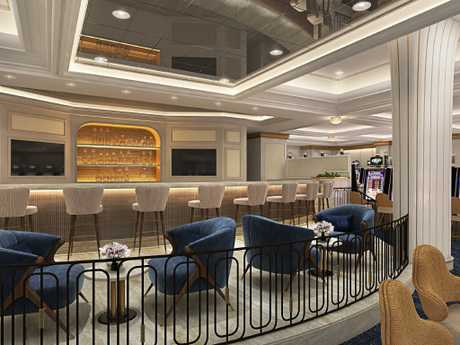 The casino bar has had a revamp. Picture: RCL Cruises Escape