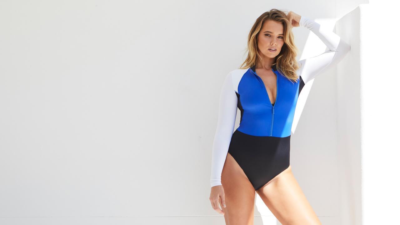 Bree Warren in the 2018 Une Piece swimwear campaign.