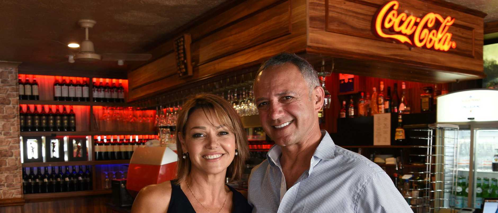 Costa D'Oro owners Michael and Nuccia Fusco — Mr Fusco says IndyCars crowds doubled turnover in comparison to Supercars. Photo: Steve Holland