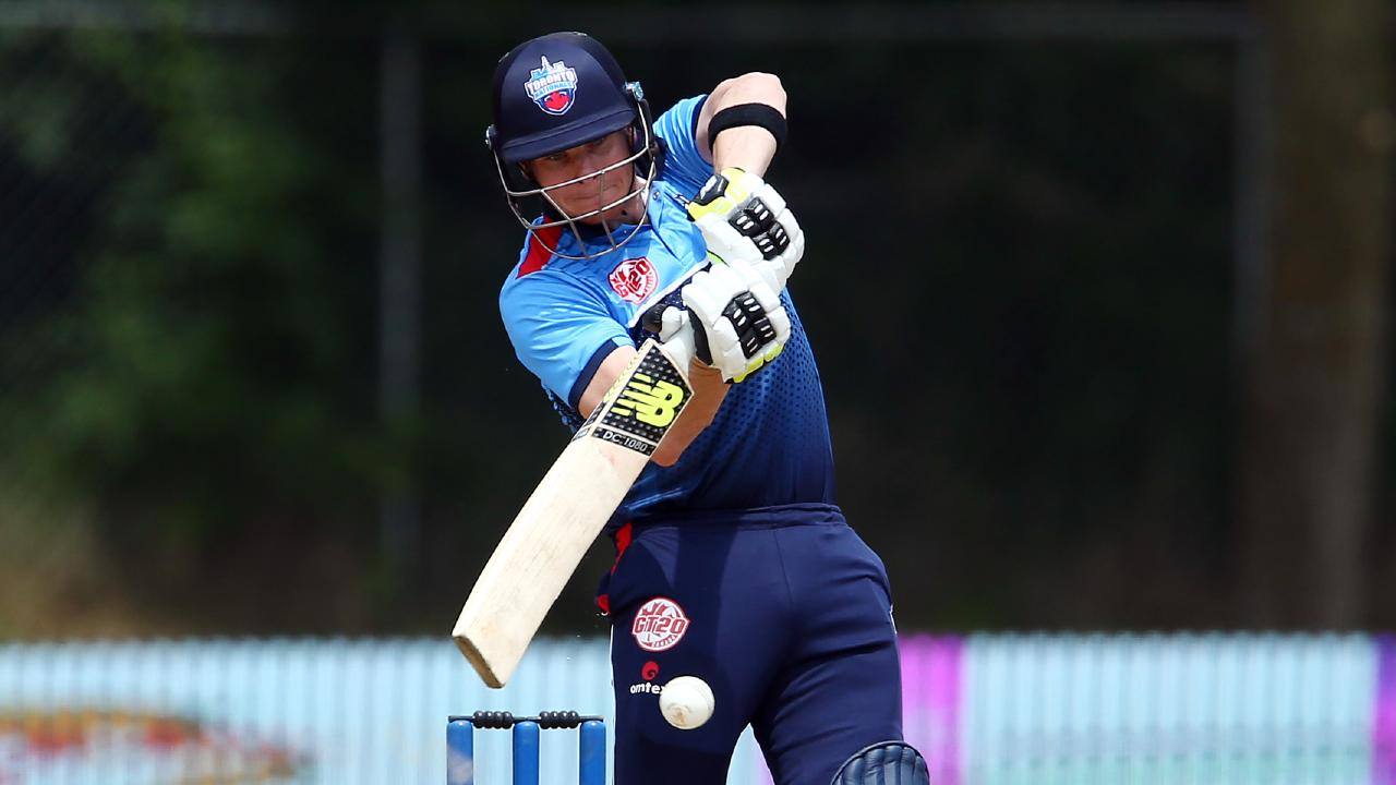 Steve Smith in T20 action for the Toronto Nationals. Picture: Getty Images