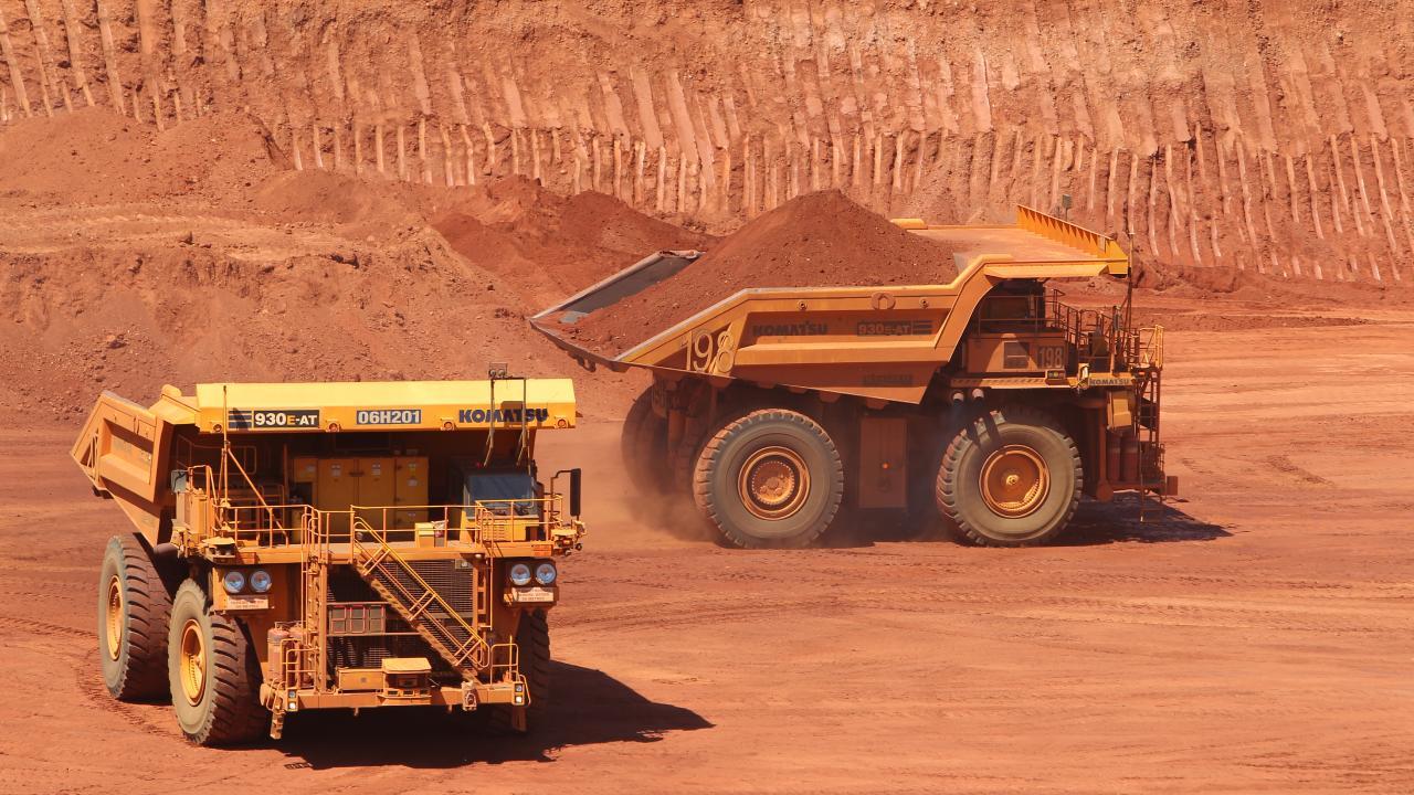 Two driverless trucks crashed at a WA mine. FILE PHOTO