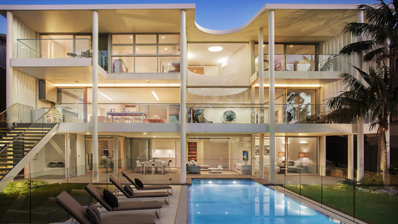 The three-storey home overlooks the water in Mosman. Picture: Matrix