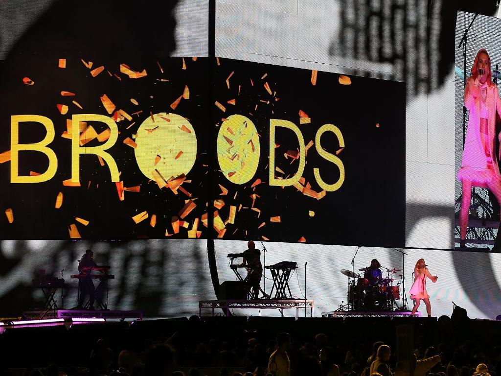 Broods get the big stage. All of the stage. Picture: Paul Kane/Getty Images.