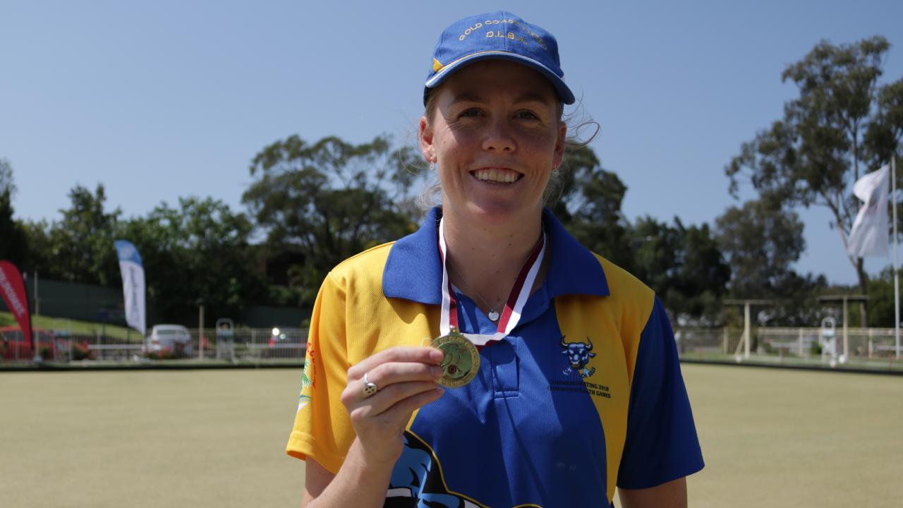 Broadbeach bowler Katelyn Inch. Picture: TAHLIA CAMILLERI