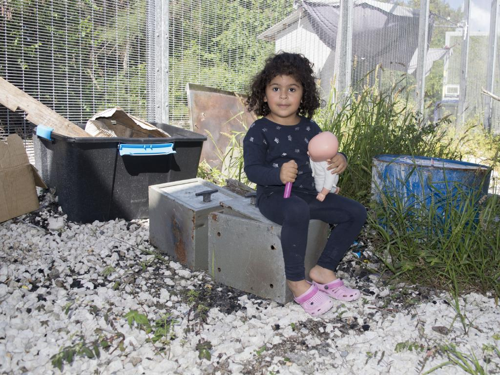 One of the children on Nauru.