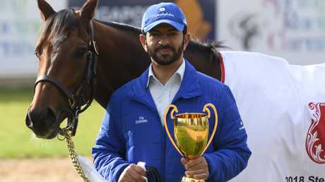 Godolphin trainer Saeed Bin Suroor hopes Caulfield Cup winner Best Solution can give the global training giant its first victory in the Melbourne Cup. Picture: Getty Images