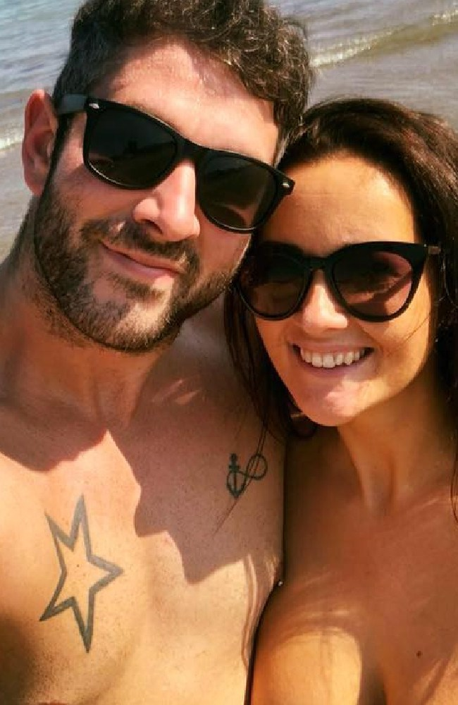 Euan Fraser and his girlfriend, Sharon Macrae. Euan suffered serious injuries when he was bashed in Melbourne last year.