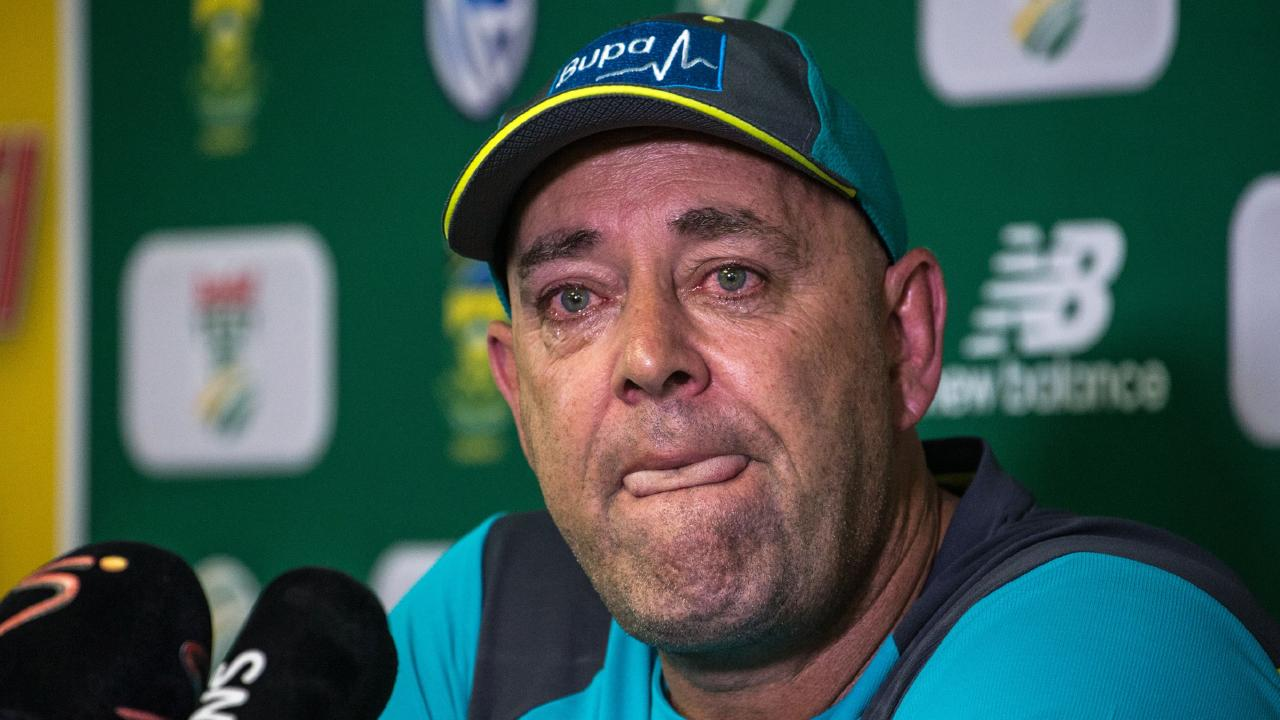 Darren Lehmann after resigning from his post as Australia coach. Picture: AFP