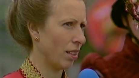 Princess Anne asking herself, 'How did I end up here?' Picture: Supplied
