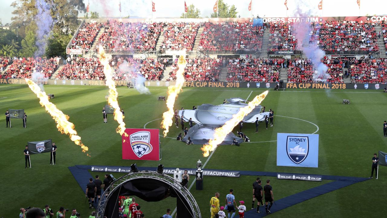 Hindmarsh Stadium was rocking for the Cup final. Picture: Sarah Reed