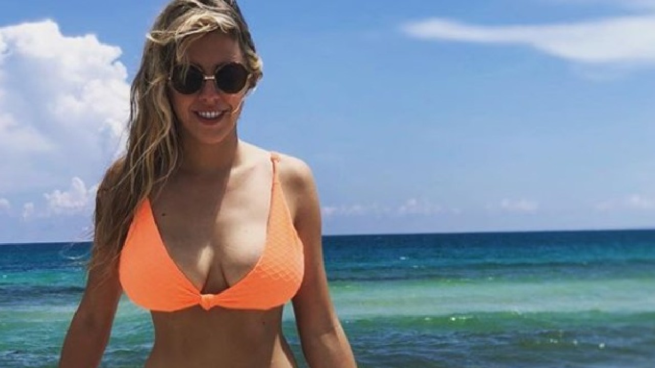 Sports reporter Nati Jota has spoken out about her breast reduction surgery. Picture: Instagram @natijota