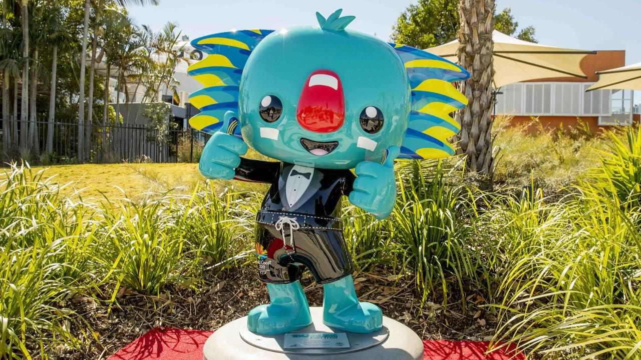 The newly installed Borobi statue at HOTA. Picture: Jerad Williams