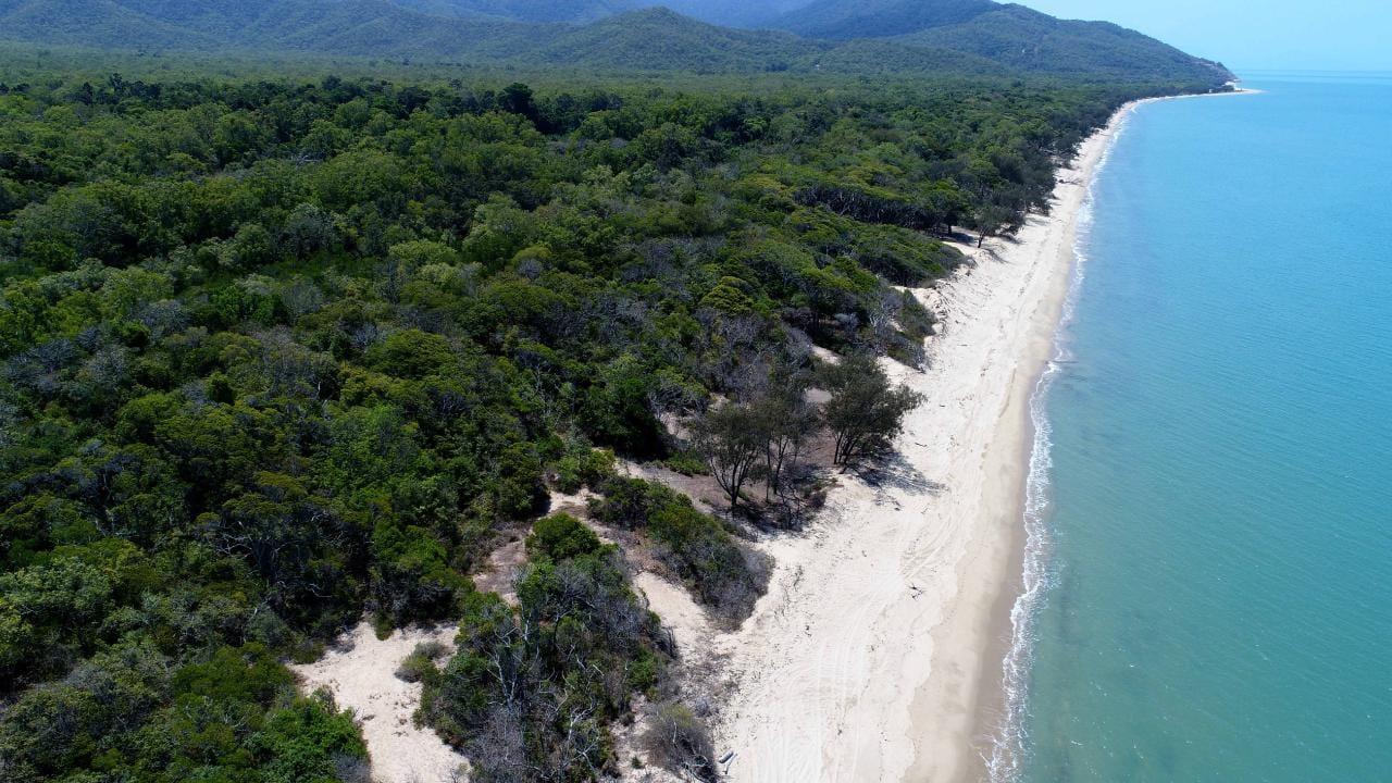 Wangetti Beach where Toyah Cordingley was found dead. Picture: Stewart McLean