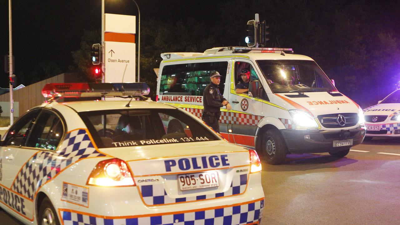 A man has been charged after allegedly ramming a number of police cars with a stolen car in the Coomera area last night. Picture: JERAD WILLIAMS