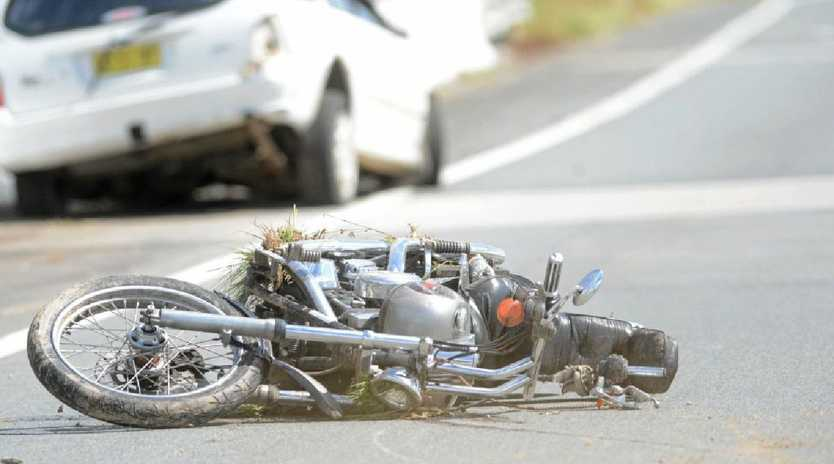 The scene of the fatal accident where Trevor Moran, a member of the Tweed Heads Motor Cycle Enthusiast Club, was killed. Photo Supplied