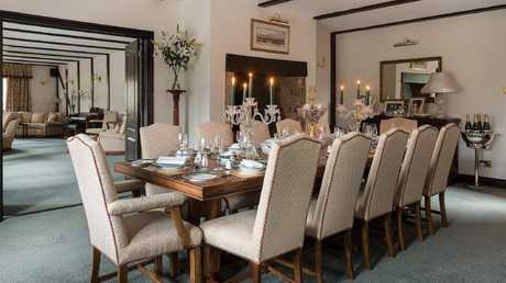 The dining room is perfect for a regal high tea, or in the event Coldplay's Chris Martin pops in