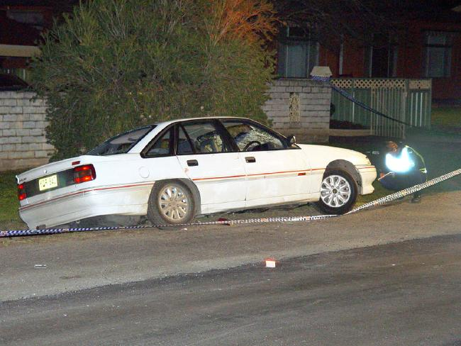 The Holden Commodore that ploughed through the crowd of partygoers.