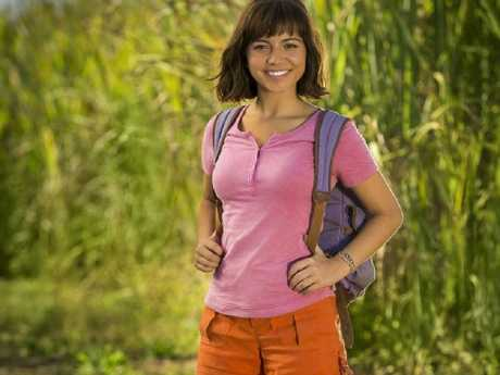 Isabela Moner as a teenage Dora The Explorer in Paramount's live-action movie being filmed on the Gold Coast.