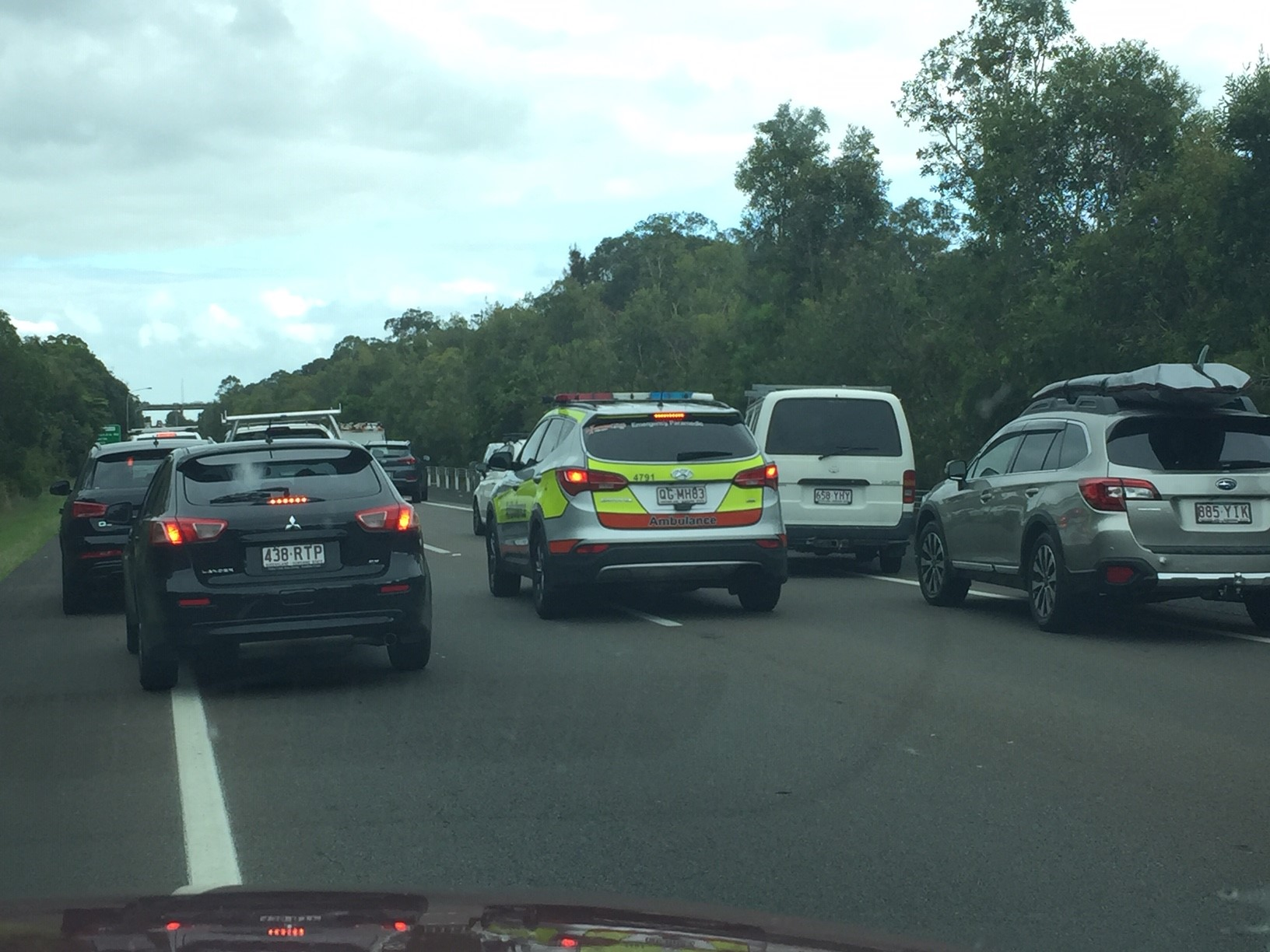 Drivers on the northbound lanes experienced heavy delays.
