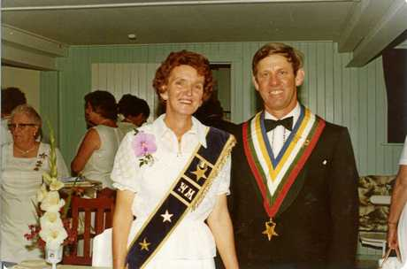 Arnold and Beatrice Horne were made Matron and Worthy Patron of the Hervey Bay Order of the Eastern Star chapter.