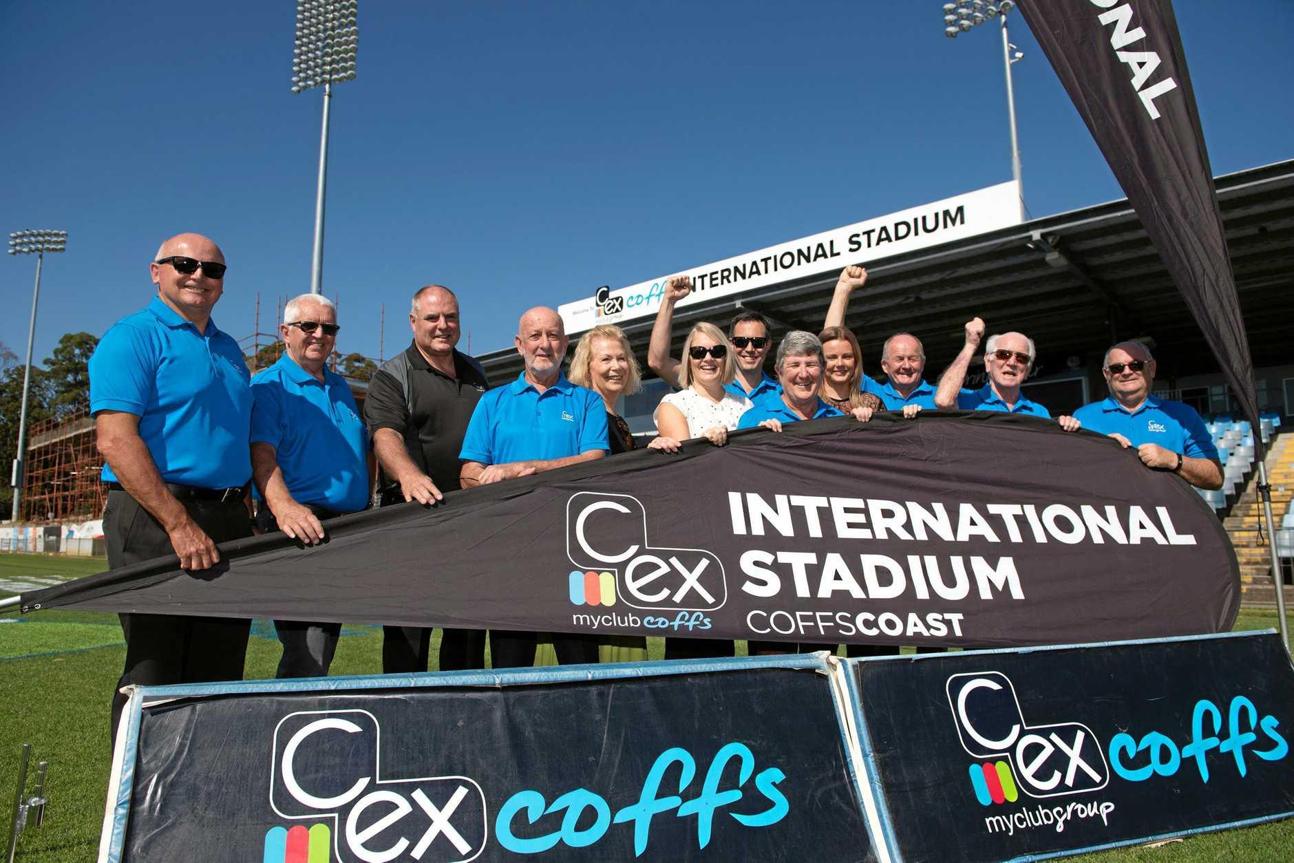 Stadium name stays . C.ex stadium Coffs. Mayor Denise Knight and the C.ex  Board. 31  OCT 2018