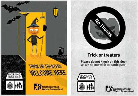 YAY OR NAY: Print out these posters and hang them on your door to show if the kids should come knocking or stay away.