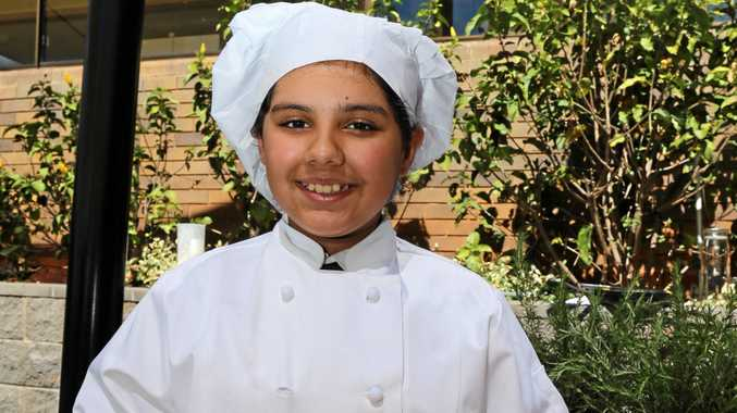 COOKING UP A STORM: Young chef Radhika Bhardwaj also teaches her fellow Year 6 Fairholme College students about cooking.