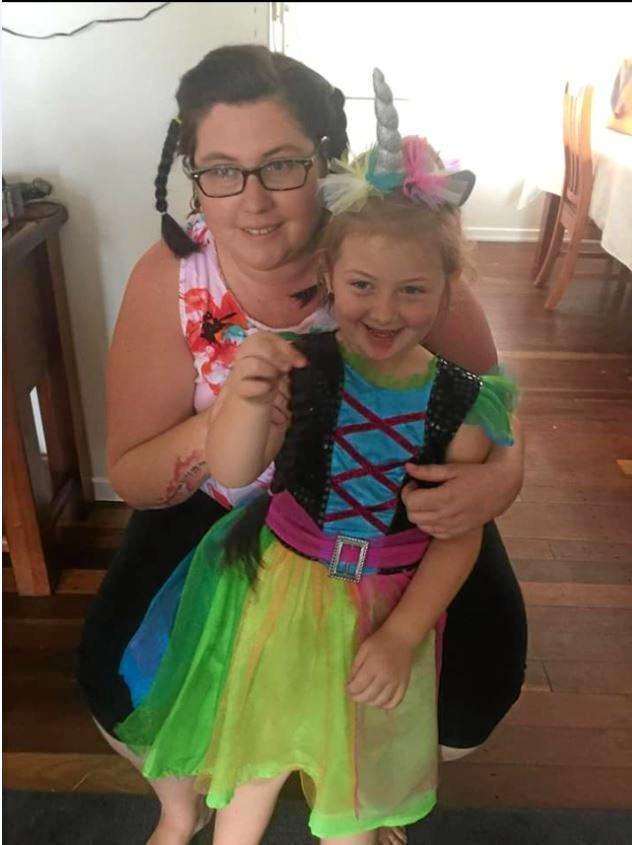 FIGHTER: Bundaberg mum Sally Weller with daughter Laylah, 4. Mrs Weller has terminal cancer and is expected to pass away within days.