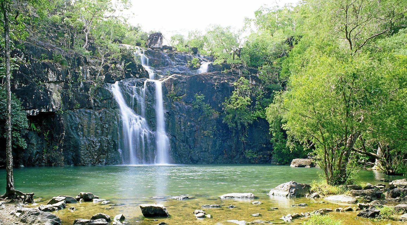 TRANQUIL: Take a dip at Cedar Creek Falls.