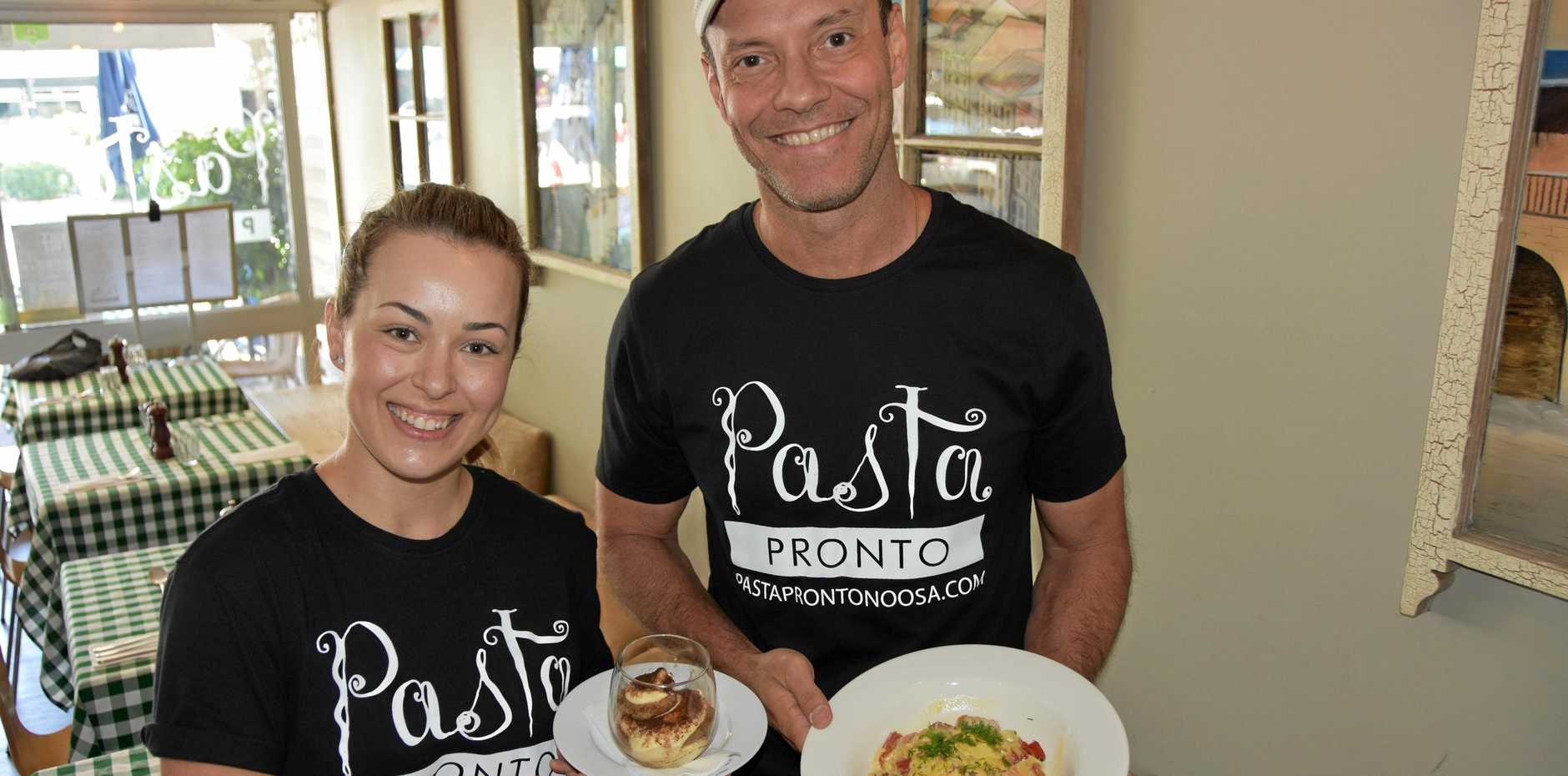 THE PLACE TO BE: Pasta Pronto has you covered for the Noosa Triathlon.