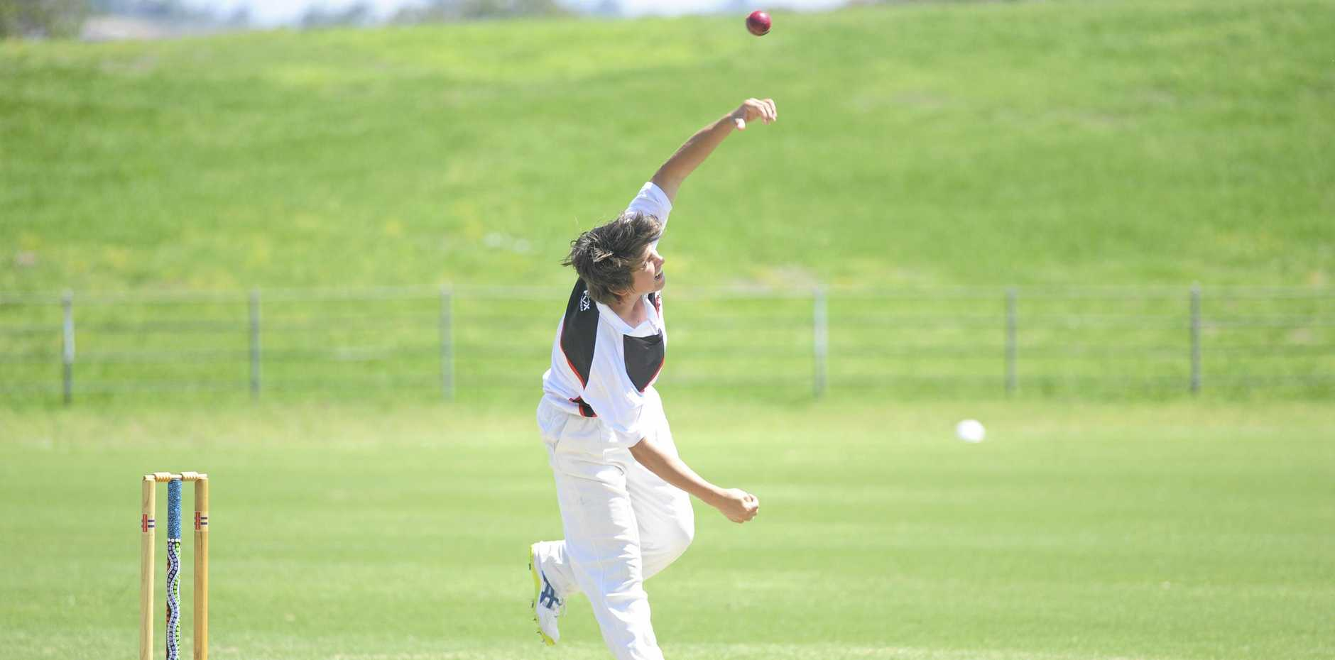 The Gumbaynggirr-design middle stump during last week's Coutts- Coffs v Sawtell match at McKittrick park.