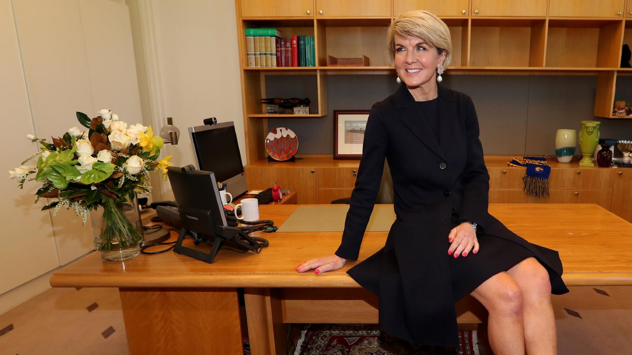 Julie Bishop has delivered perhaps her most powerful speech yet, on the issue of women in politics. Picture: Kym Smith
