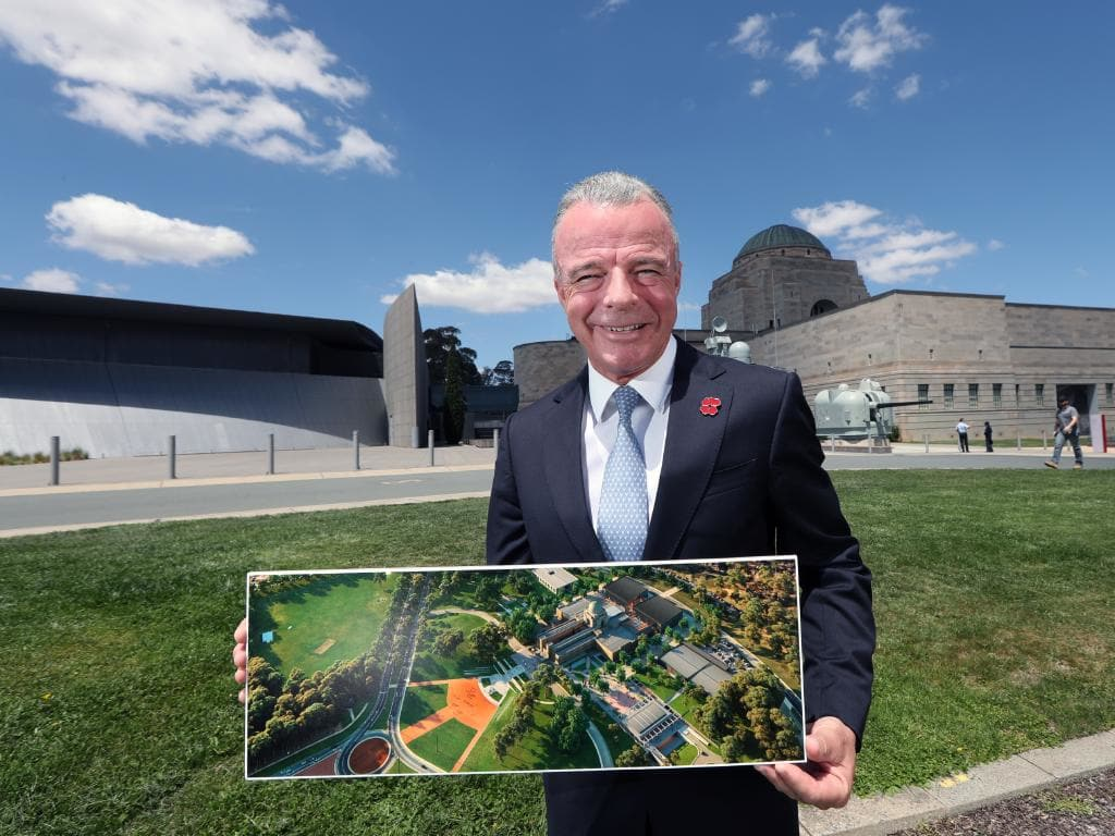 Australian War Memorial director Brendan Nelson says the renovation is all about telling the stories of the men and women of our recent past. Picture:  Gary Ramage