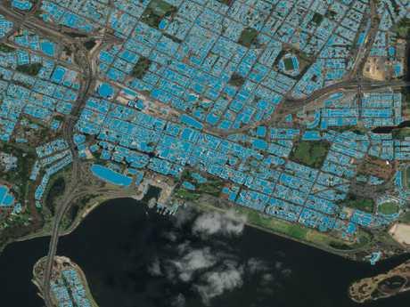 Geoscape shows the Perth CBD.