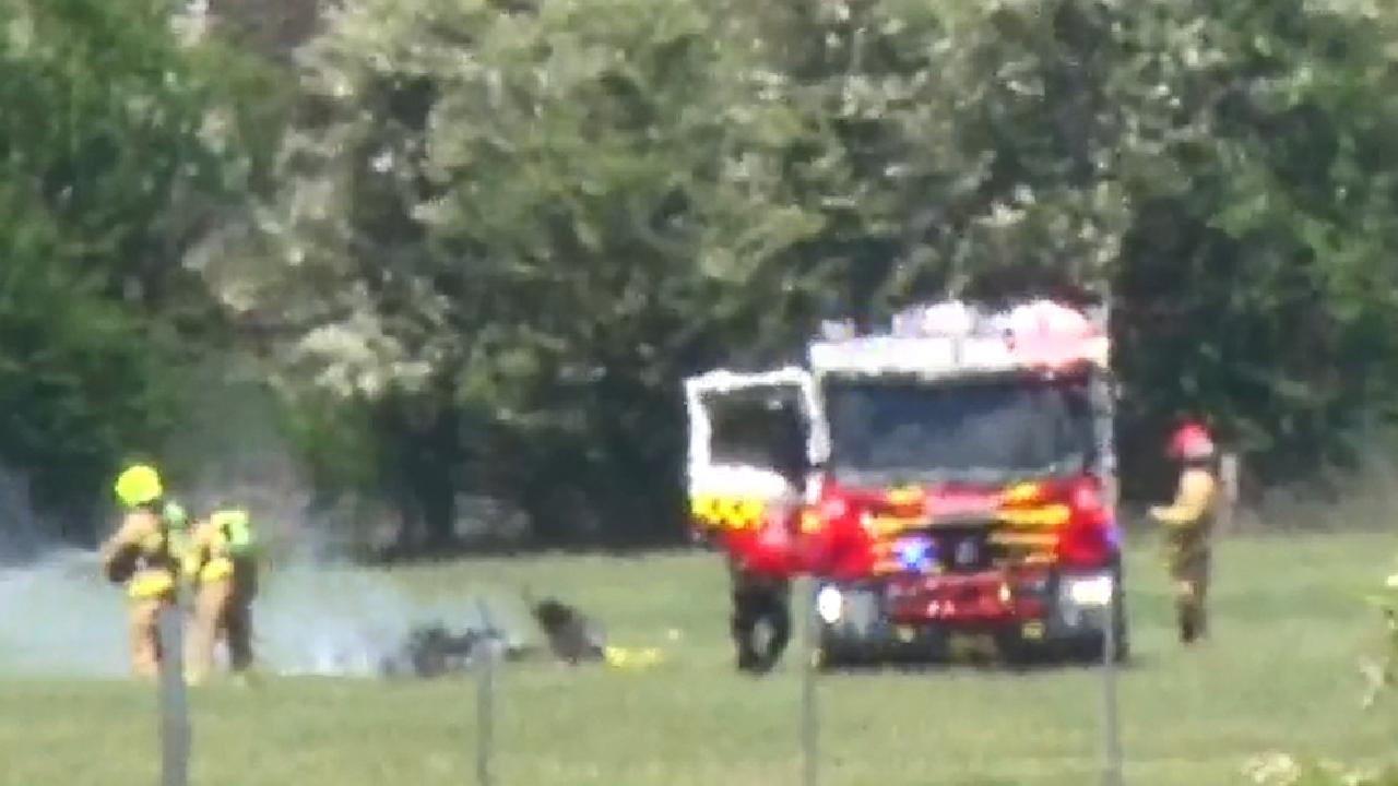 Two people on board the plane died at the scene. Picture: TNV
