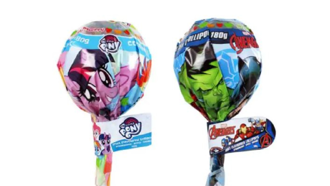The lollipops recalled because of metal fears. Source: Food Standards Authority.