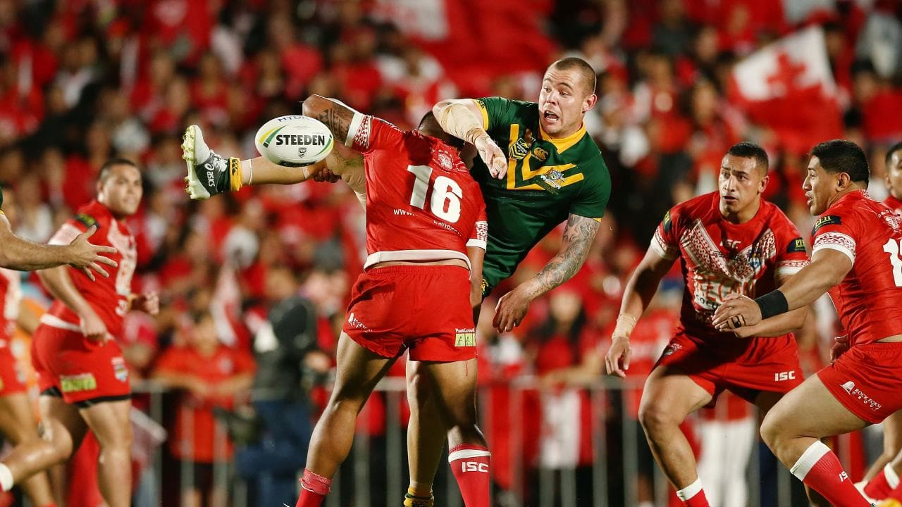 Ofahengaue was strong for Tonga against Australia. (Photo by Anthony Au-Yeung/Getty Images)