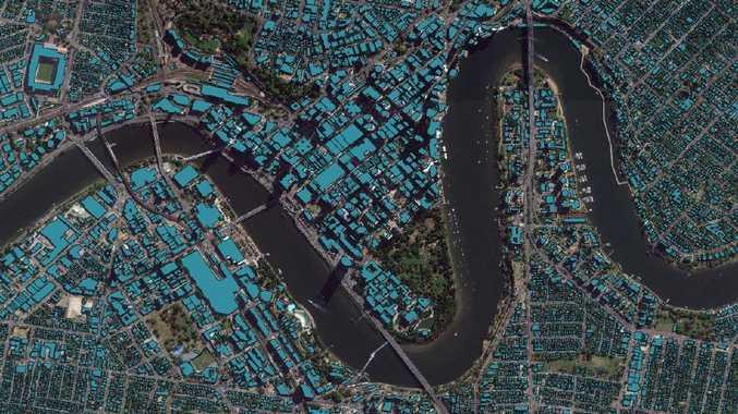 Brisbane's CBD is mapped by Geoscape.