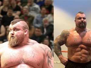 Strongest man's stunning body transformation