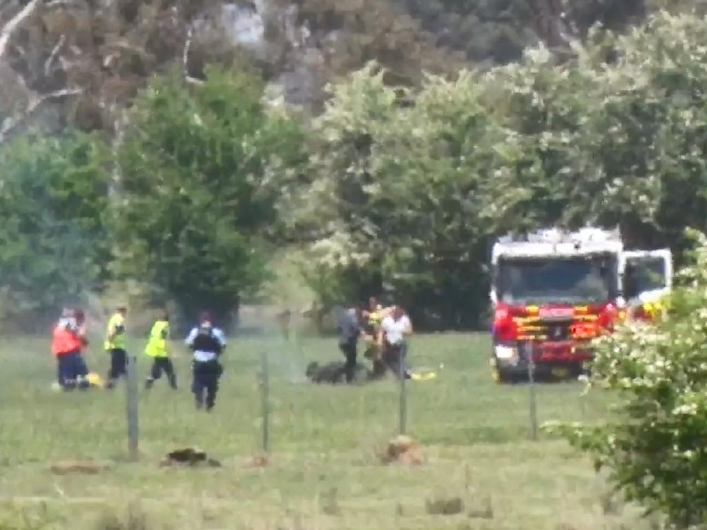 Emergency crews remain on scene. Picture: TNV