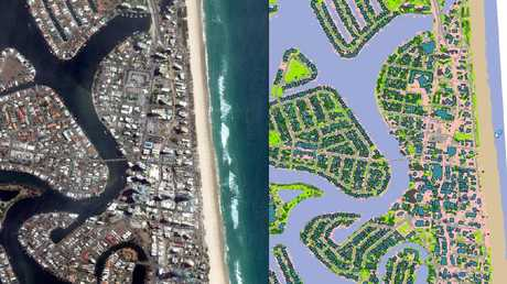Geoscape looks at the Gold Coast and its density with canal systems.